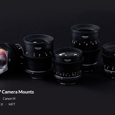 Samyang releases RF mount versions of its VDSLR MK II cine lens lineup