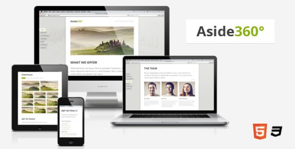 Aside360° – Responsive HTML5 One-Page Theme