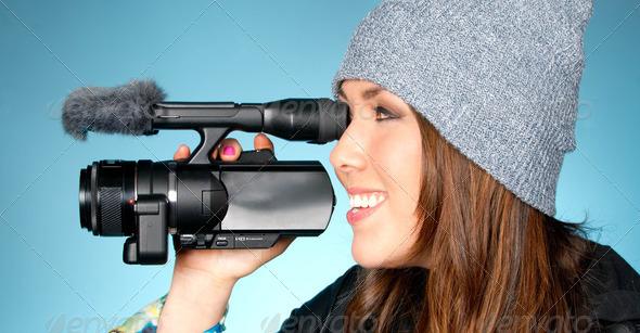 Hip Jeune femelle adulte Points caméra vidéo