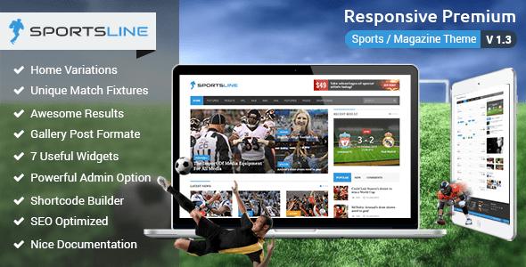 Sportsline - Sports News WordPress Theme