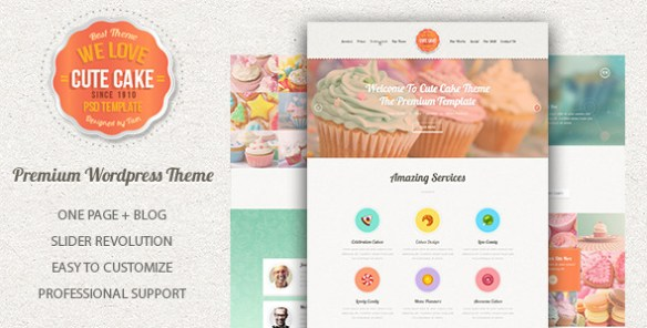 Cute Cake - Tema WordPress Responsivo de Uma Página - WordPress ...
