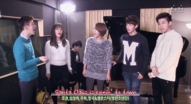 Jo Kwon Joo Hee Lim Jeong Hee Jung Kook And Rap Monster