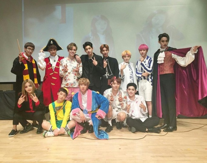K-Pop Stars Show off Their Halloween Costumes