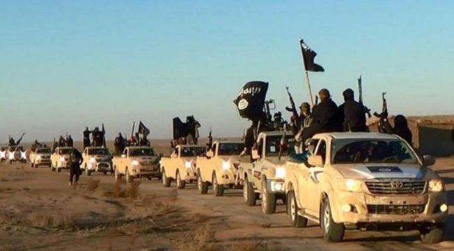 <p>TERRORHÆR: En konvoi med IS-krigere fotografert på vei fra Syria til Irak i fjor.<br/></p>