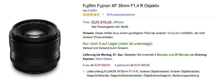 Fuji XF 1,4 35mm