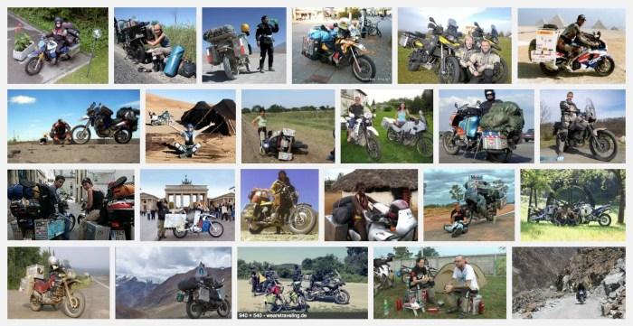 Motorrad-Weltreisende
