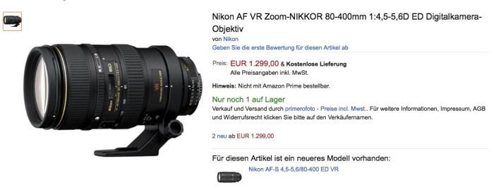 Nikon AF-D 80-400mm