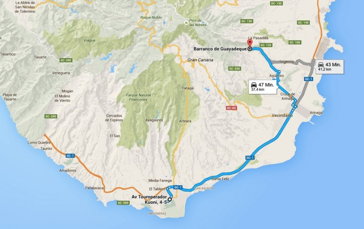 Gran-Canaria-Barranco-Guayadeque-Route