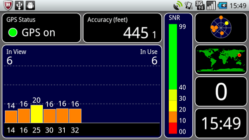 スマートフォン登山用GPS化計画「GPS Test」について(GPS信号受信状況確認アプリ)