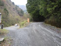 西日影沢登山口駐車場