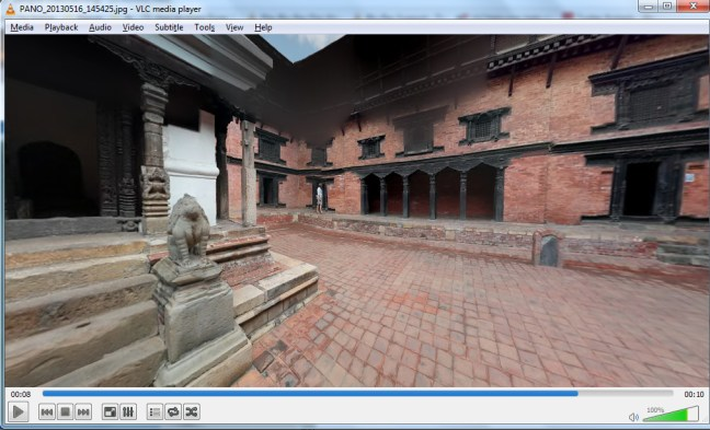 Play 360° Videos and Photos using VLC Media Player