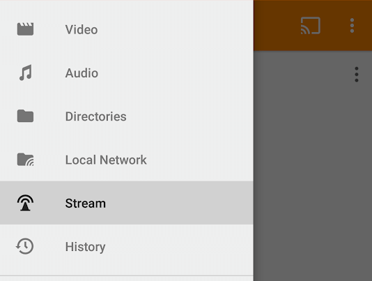 Open Online Stream in VLC Android