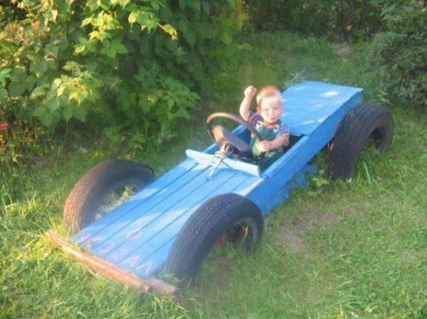 Автомобиль на детскую площадку = 10+ фото идей своими ...