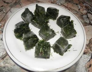 замороженая зелень