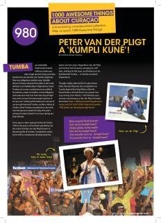 ATAC #980. Peter van der Pligt's Tumba 'Kumpli Kuné!' featured in GO Weekly's 3rd edition of 2013.