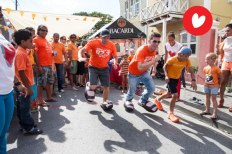 Curacao walks in someone else's shoes on Queensday 2013.