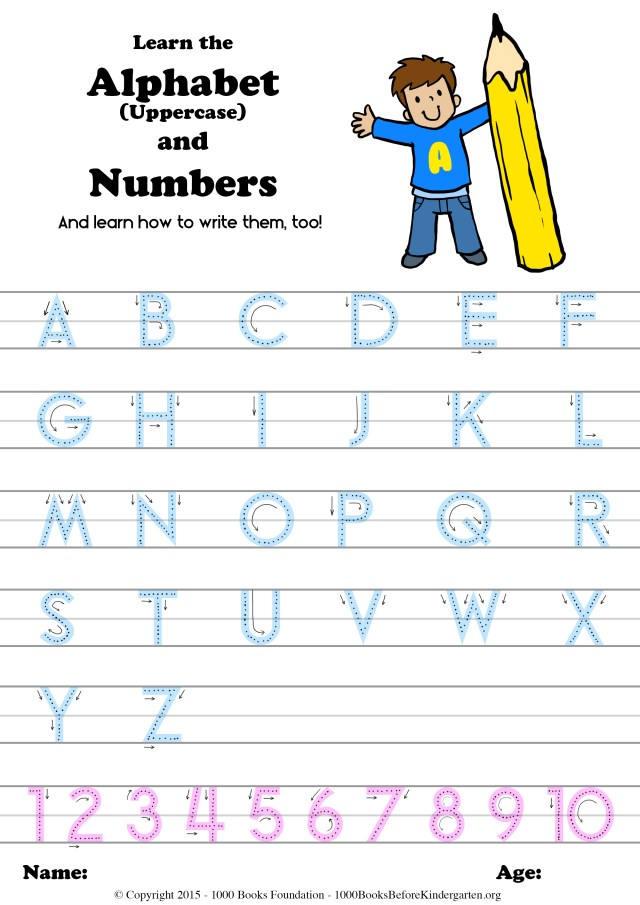 Learn the Alphabet & Numbers (and how to write them, too) – 23
