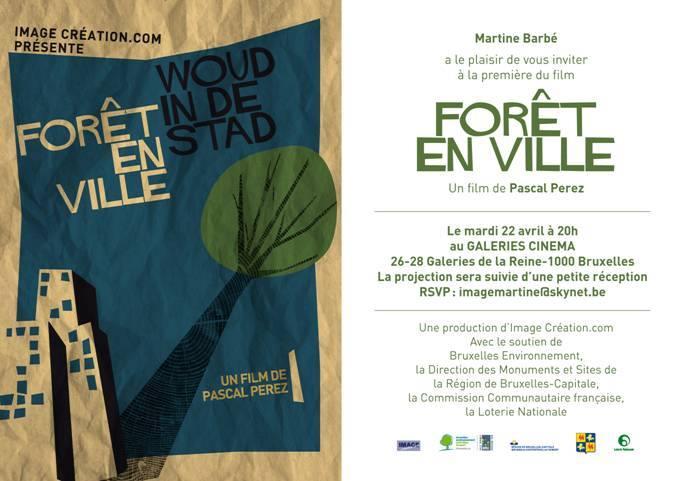 affiche film foret en ville bruxelles
