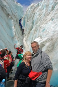 Hiking glacier