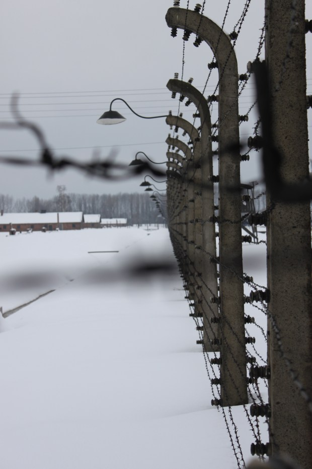 Auschwitz Birkenau on a cold winter afternoon