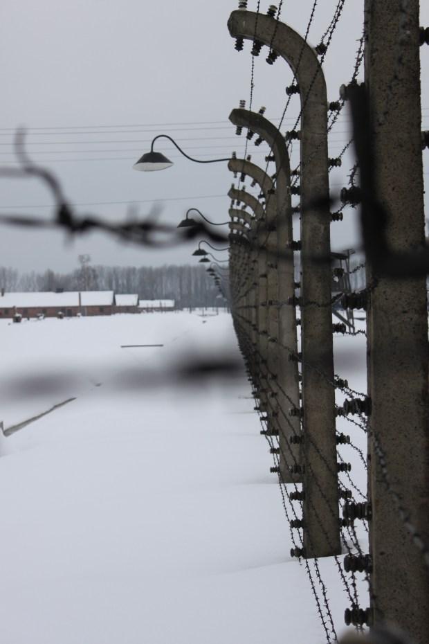 Auschwitz Birkenau on a cold winter afternoon