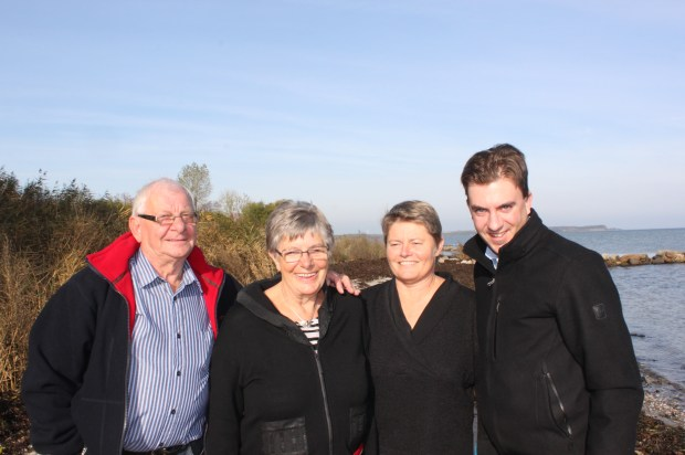 The US and Denmark Madsens from left to right: Ebbe Madsen, Ester Madsen, Lone Madsen, Mike Willits (October 22, 2013)