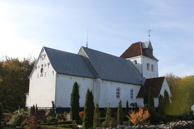 This is the church in Vonsbaek near Orbyhage.  Our ancestors would have worshiped here.