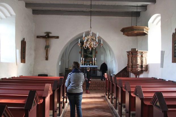 Inside the Vonsbaek Church.  Built in the 1600s.