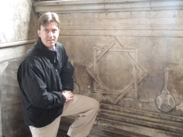 "Mike with the eight pointed star.  The ""star of Melchizedek""."