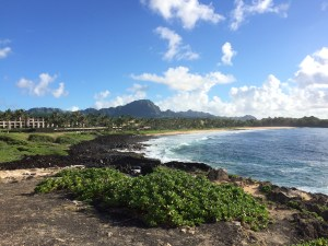 The view from the morning hike and the resort in the distance.