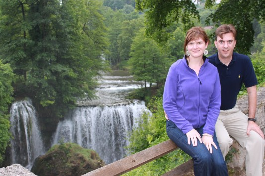 couple waterfall