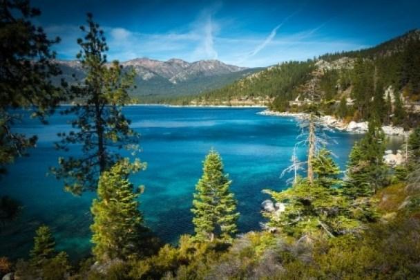 Pure blue water of Tahoe