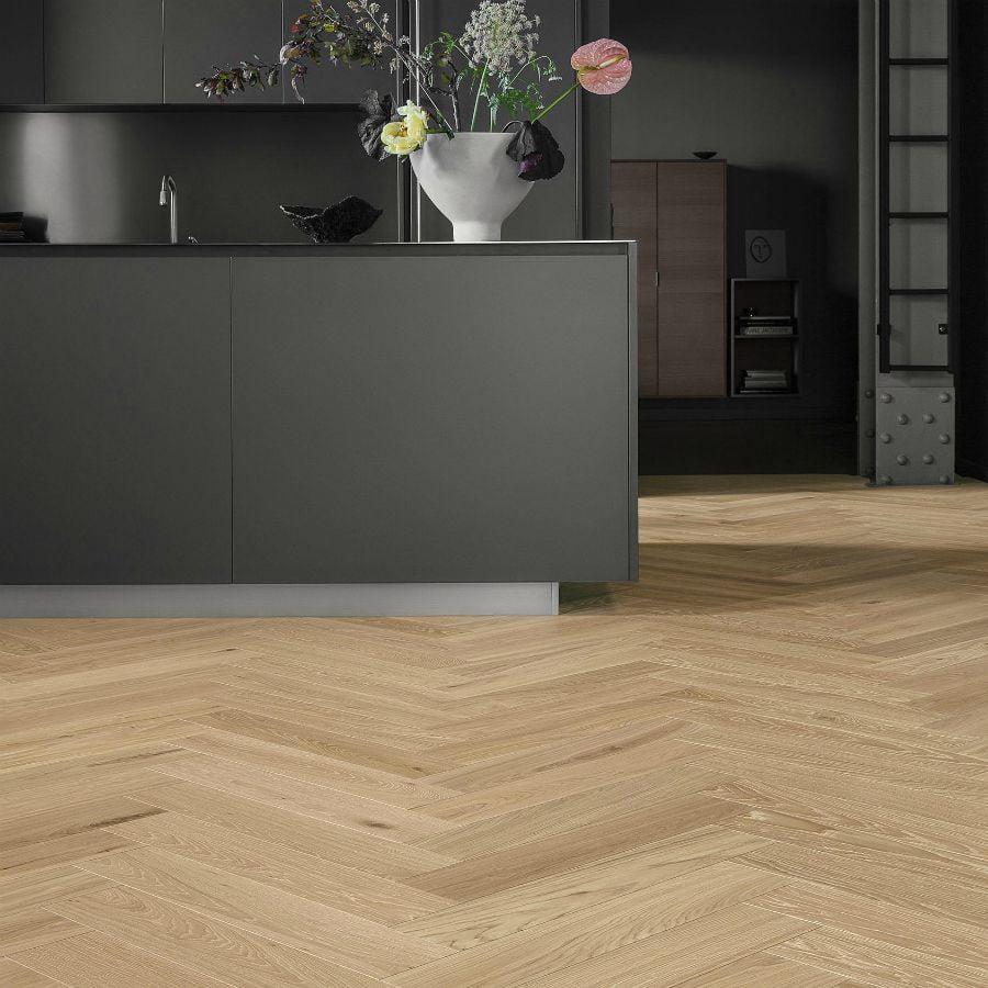 oak blonde 1 strip tarkett segno herringbone pattern 1000floor