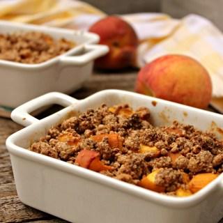 Vegan Peach Crumble