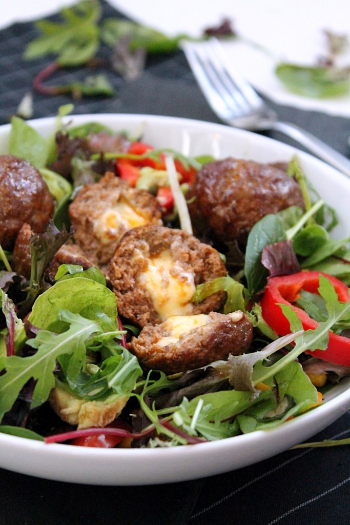 meatballs-cheese-salad