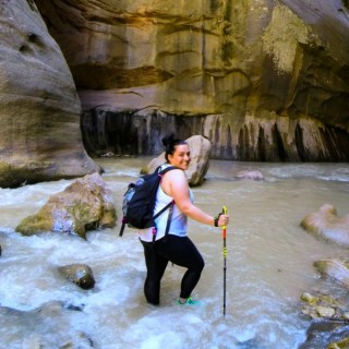 Hiking 'The Narrows' at Zion National Park