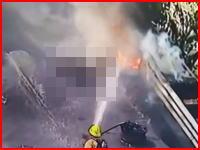 放送事故。火災現場のライブ映像に丸焦げのご遺体が映りこんでしまう。