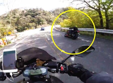 過去に炎上した阪奈下りの走り屋たちを外から撮影した映像があった。