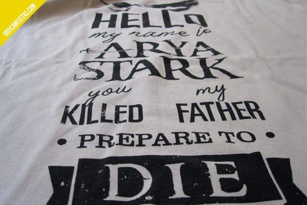 Camiseta hello my name is Arya