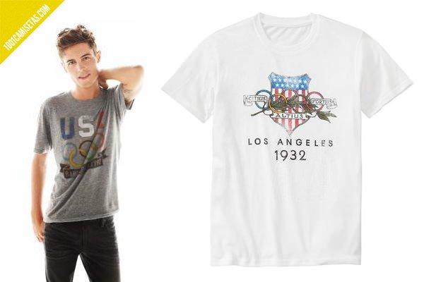 Camisetas juegos olimpicos vintage