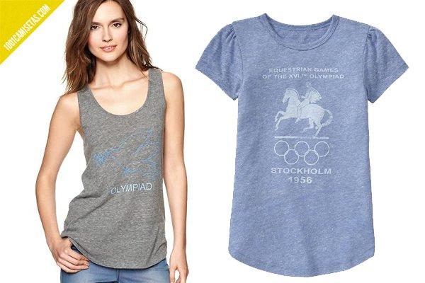 Camisetas vintage juegos olímpicos chica