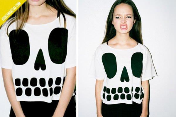 Camiseta skull Lazy oaf