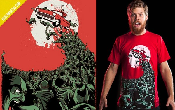 Camisetas zombies Threadless