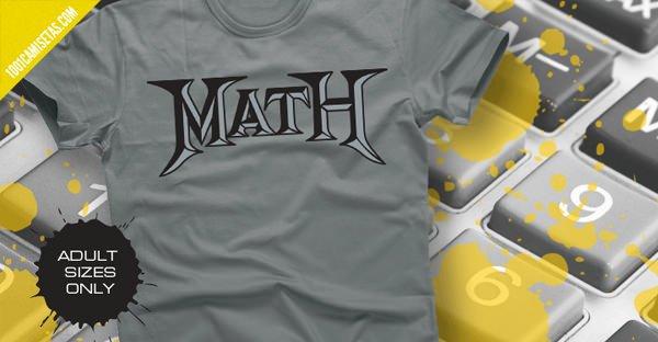 Camiseta math