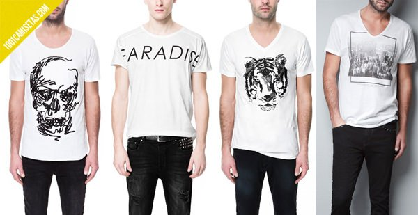 Camisetas zara hombre
