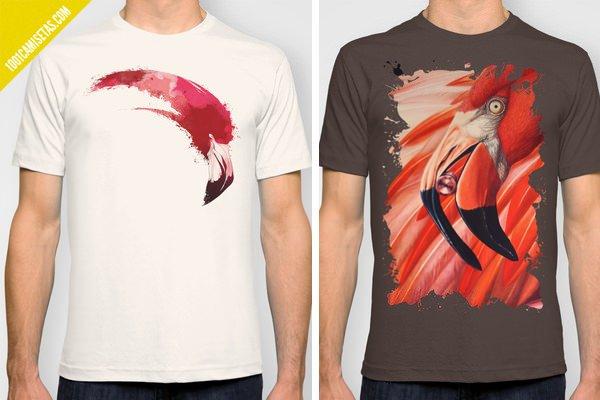 Camisetas DTG flamencos