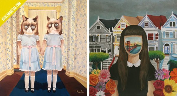 Grumpy cat San Francisco paintings