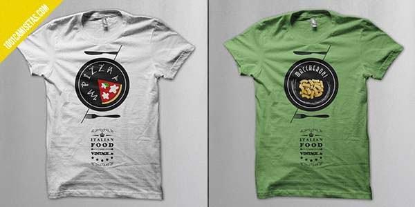 Camisetas comida italiana