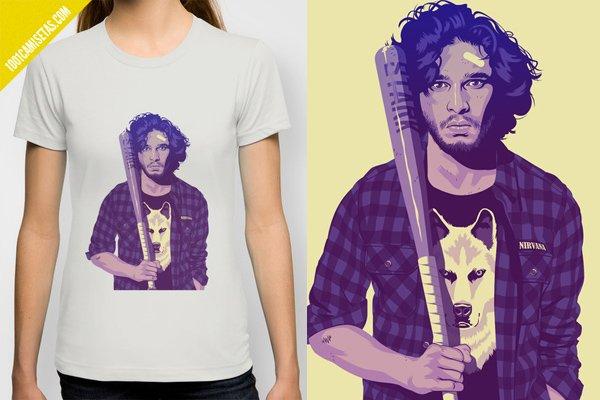 Camiseta game of thrones jon snow