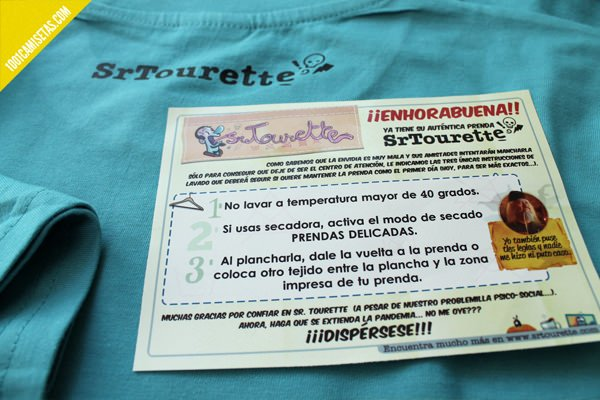 Camisetas instrucciones